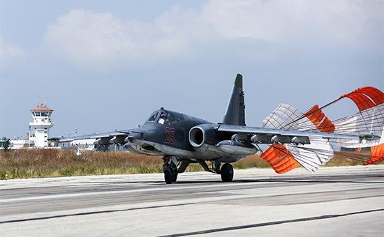 Российский самолет Су-25 наавиабазе «Хмеймим», Латакия