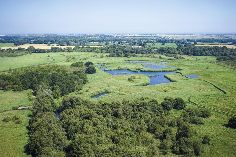 Заповедник находится вграфстве Норфолк навостоке Англии иимеет статус национального парка