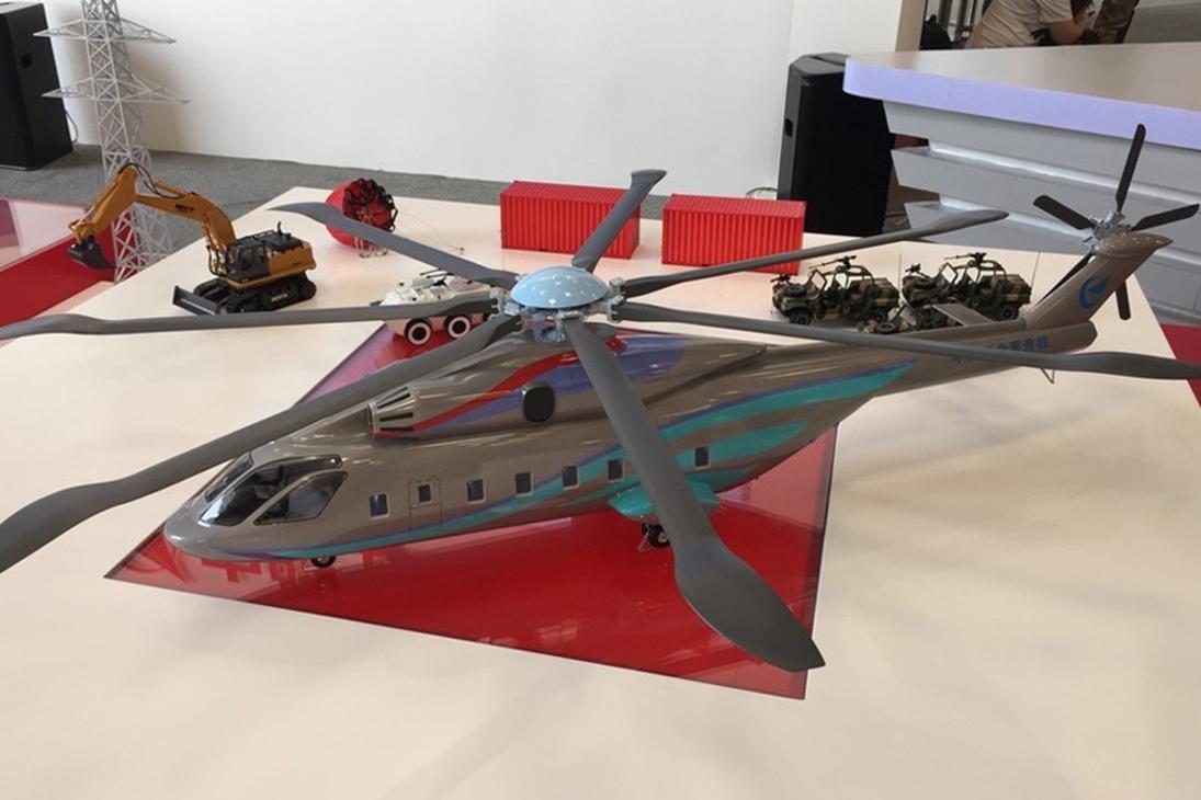 Макет тяжелого вертолета нового поколения AHL