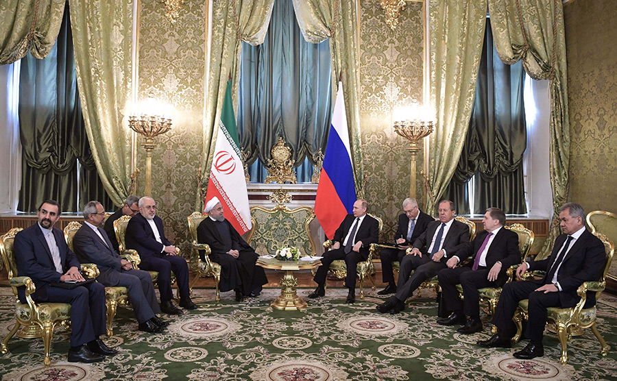 Встреча Владимира Путина иХасана Роухани вКремле