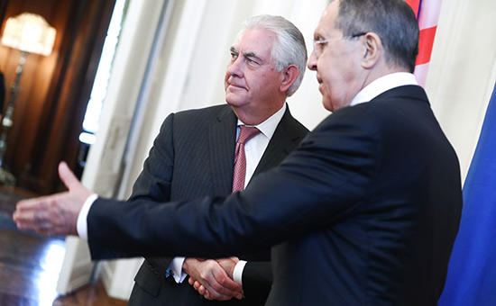Рекс Тиллерсон и Сергей Лавров (слева направо)