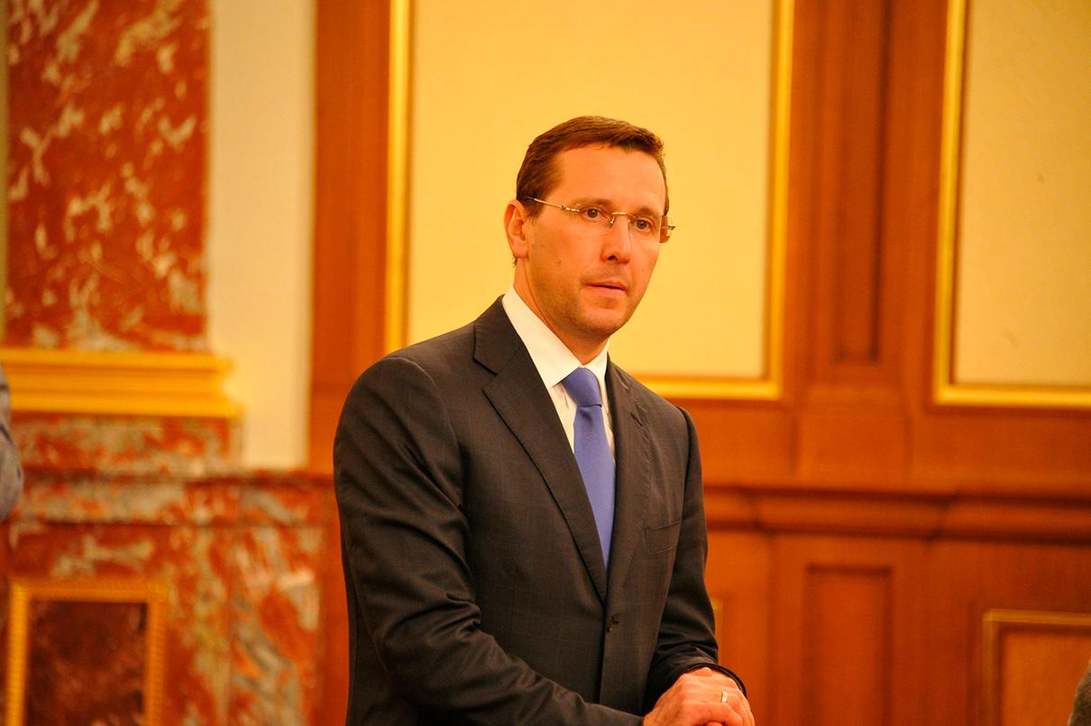 Олег Говорун на заседании правительства в 2012 году