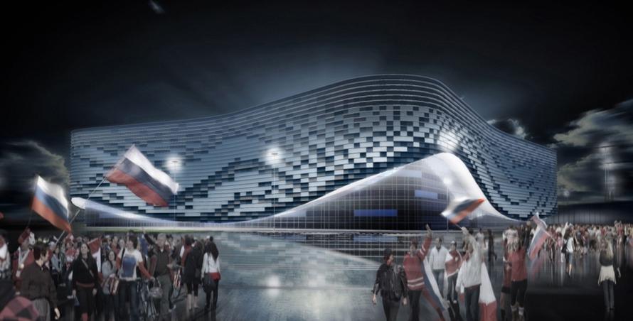 Проект дворца зимнего спорта