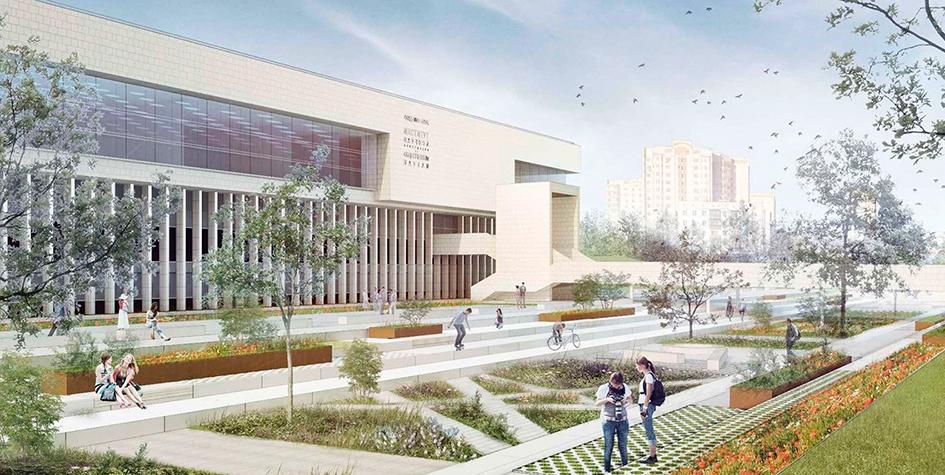 Проект благоустройства парка рядом с библиотекой ИНИОН