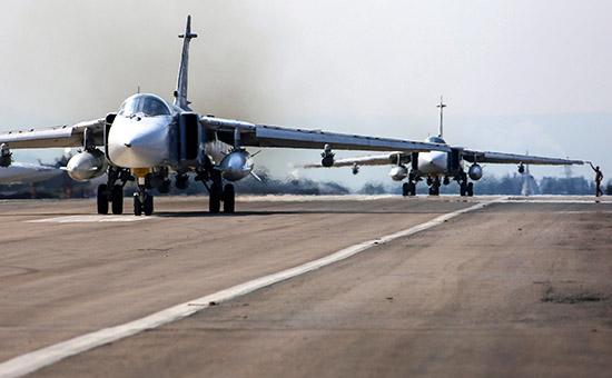 Российская авиационная группа на аэродроме Хмеймим в Сирии