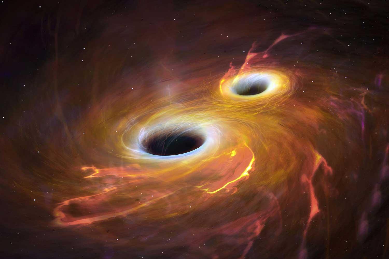 Визуализация двух черных дыр
