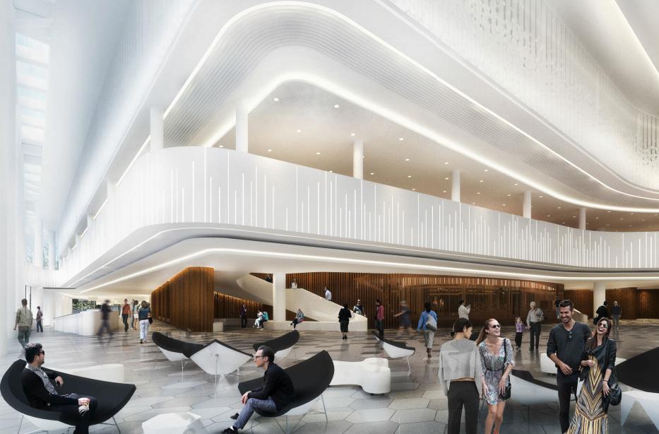 Большой зал филармонии рассчитан на1450–1550 мест—взависимостиотиспользования площади оркестровой ямы