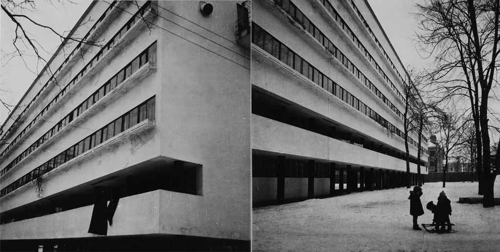Дом работников Наркомата финансов РСФСР (Наркомфина). Фото 1930-хгодов