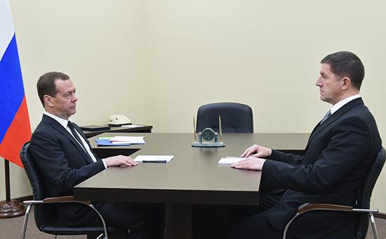 Дмитрий Медведев и Михаил Осеевский