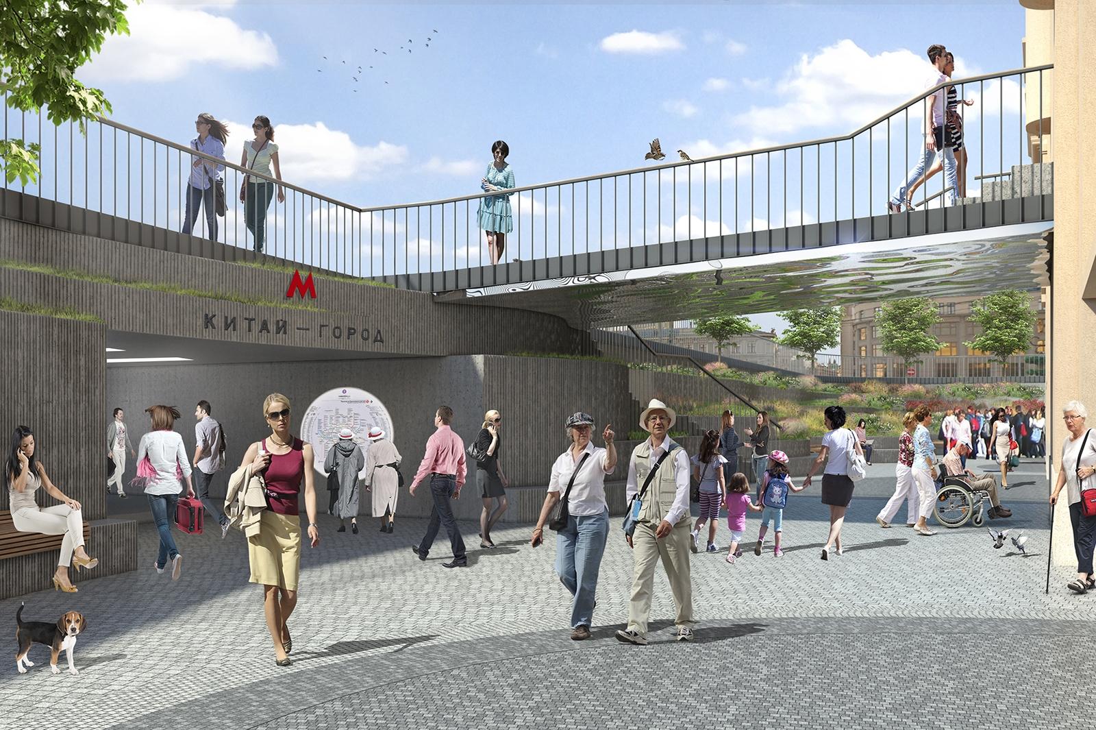 Сцена перед амфитеатром будет предназначена для проведения массовых культурных мероприятий