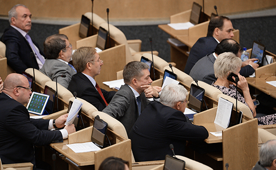 Депутаты на пленарном заседании Государственной Думы РФ, 20 октября 2014 г.