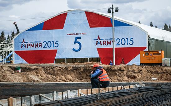 На территории строящегося конгрессно-выставочного центра Министерства обороны РФ в военно-патриотическом парке культуры и отдыха Вооруженных сил РФ «Патриот» в Кубинке
