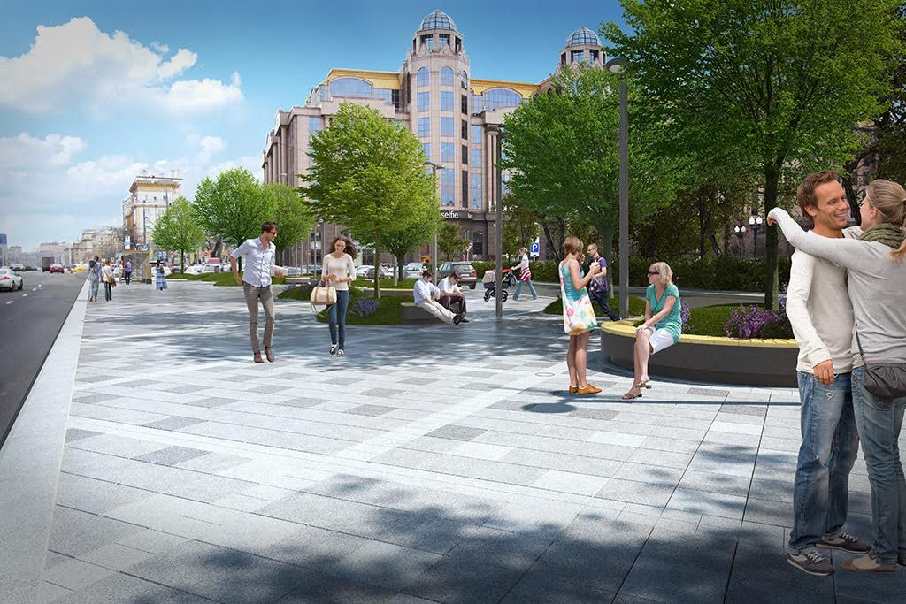 Визуализация проекта реконструкции Кудринской площади