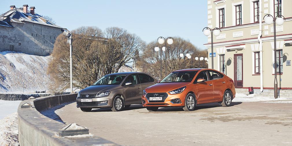 """<span style=""""font-size:16px;"""">Новый Hyundai Solaris длиннее и шире, чем Polo, а также превосходит немецкий седан в колесной базе.</span>"""