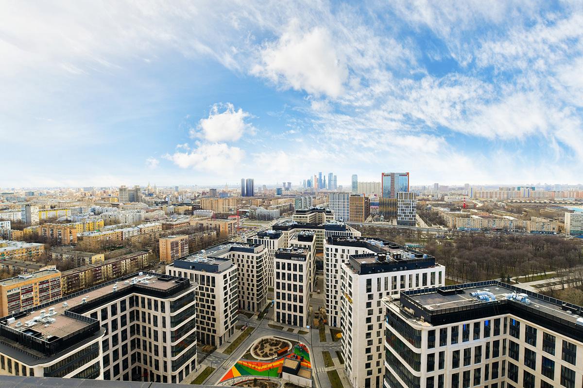 Общий вид квартала «ВТБ Арена парк»