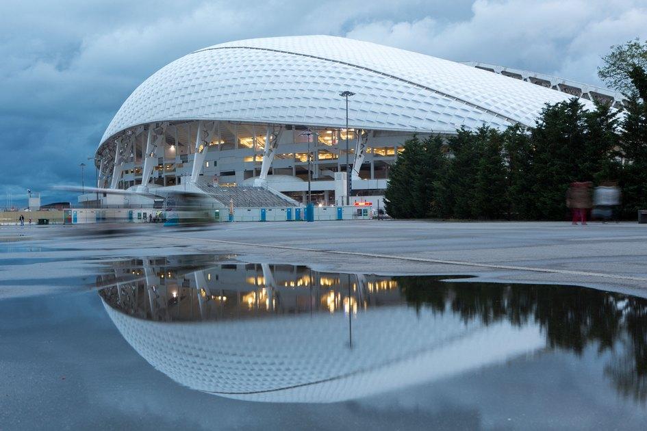 Стадион «Фишт» на территории Олимпийского парка в Сочи