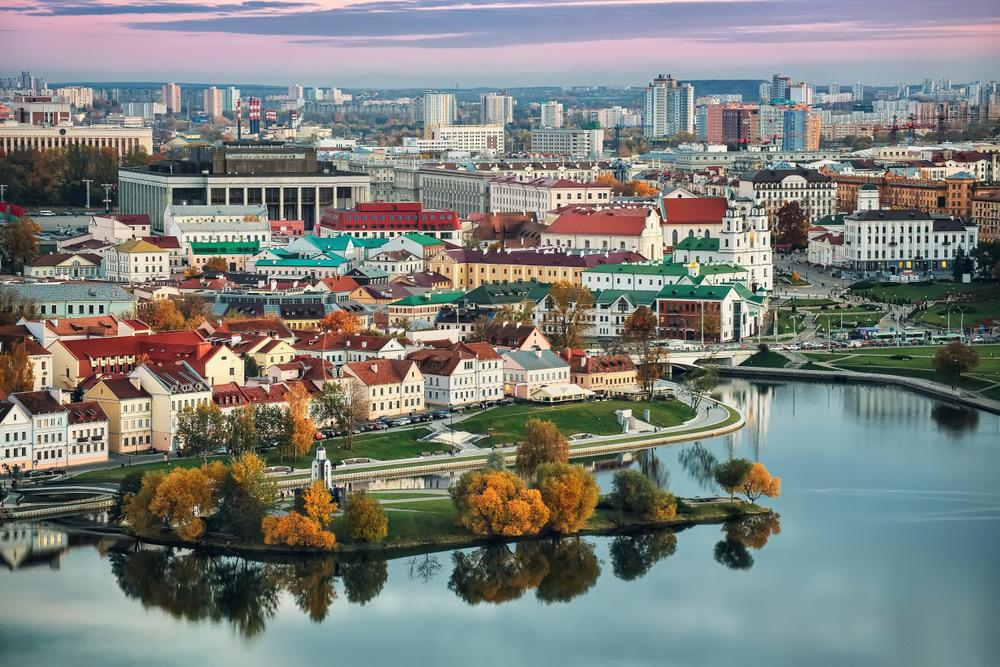 Панорамный вид на исторический центр Минска