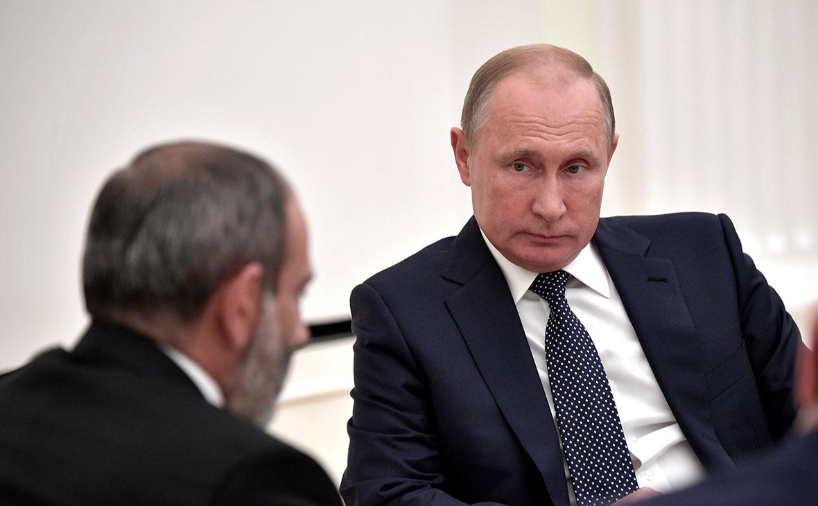 НиколПашинян иВладимир Путин