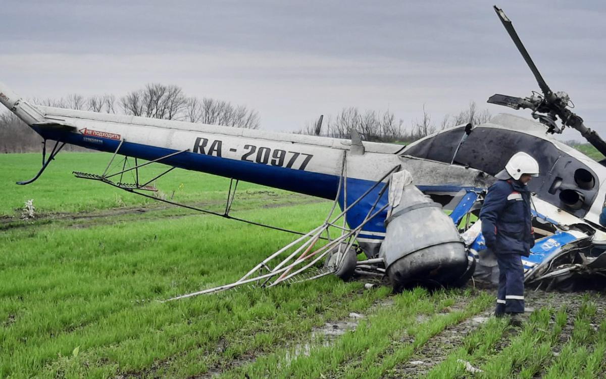 На Кубани завели уголовное дело после падения вертолета и гибели пилота