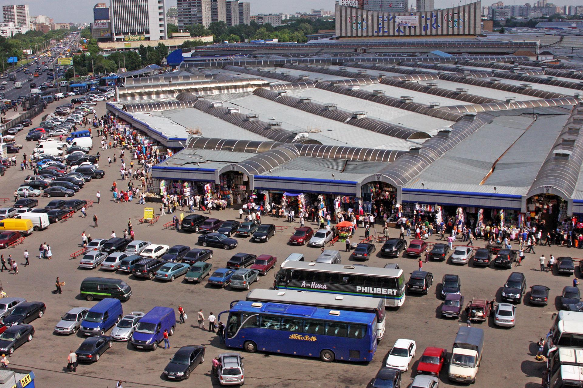 Вид на Черкизовский рынок. 2009 год