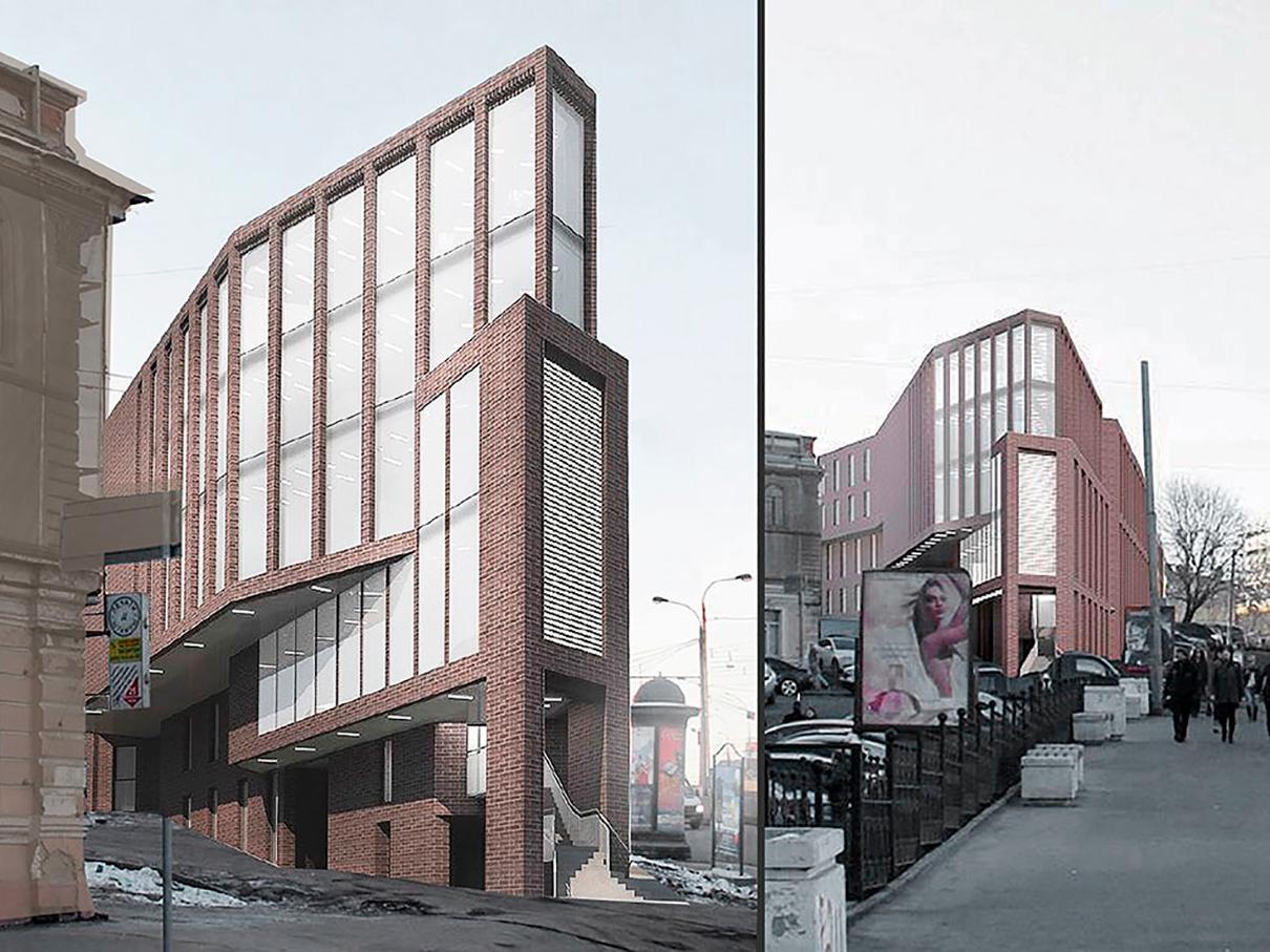 Многофункциональное здание. Земляной Вал, 77–78