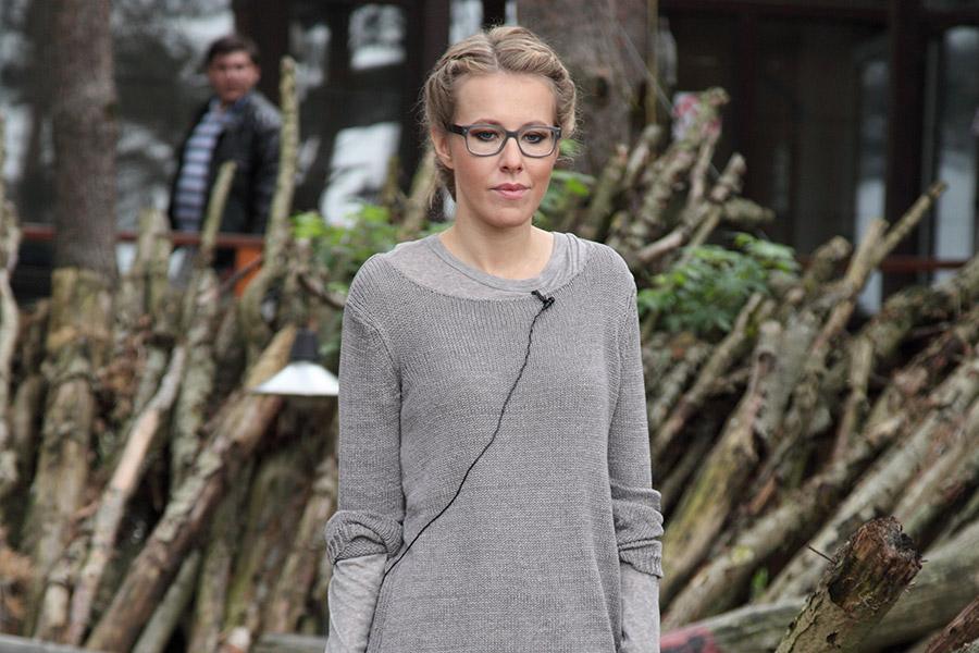 Ксения Собчак во время съемок реалити-шоу «Дом-2»