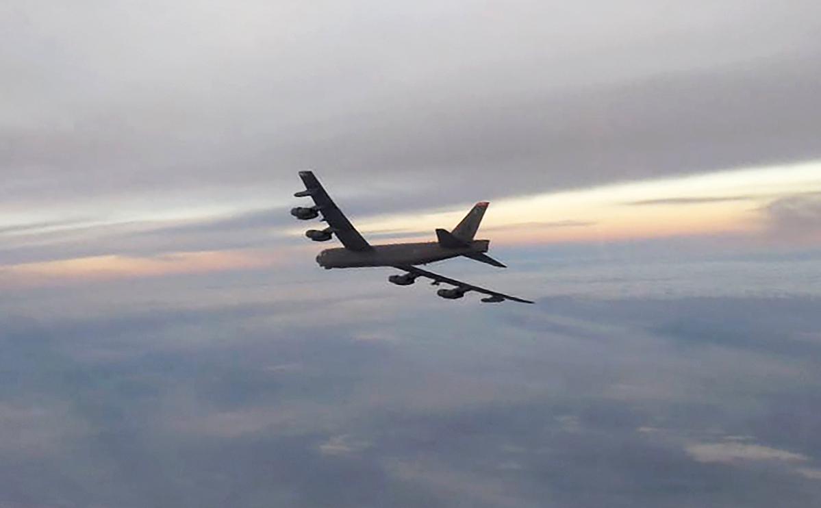 Стратегический бомбардировщик В-52Н ВВС США