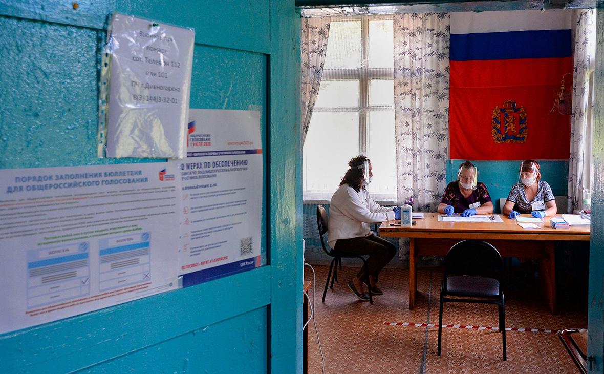 Избирательный участок в таёжном посёлке Верхняя Бирюса Красноярского края