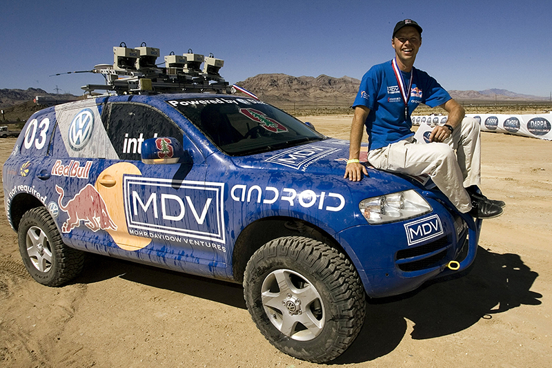 ПрофессорСебастиан Трун, глава гоночной командыСтэнфордского университета,после победы в соревновании машин-роботовDARPA Grand Challenge.