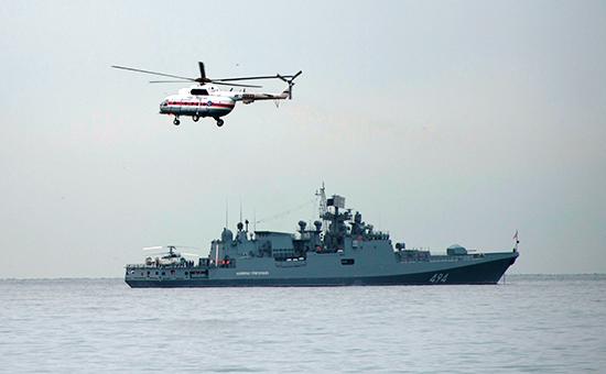 Поисковые работы у побережья Черного моря, гдепотерпел крушение самолет Ту-154. 27 декабря 2016 года