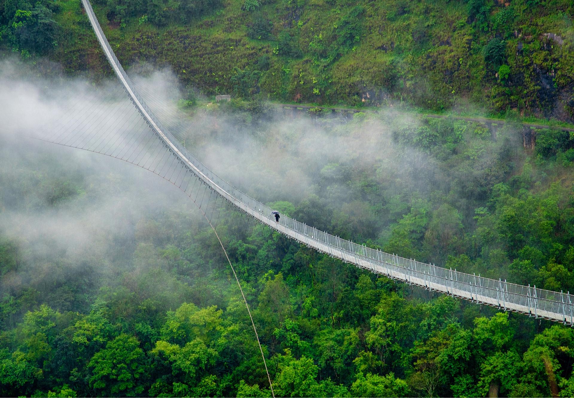 Мост Baglung Parbat в Непале