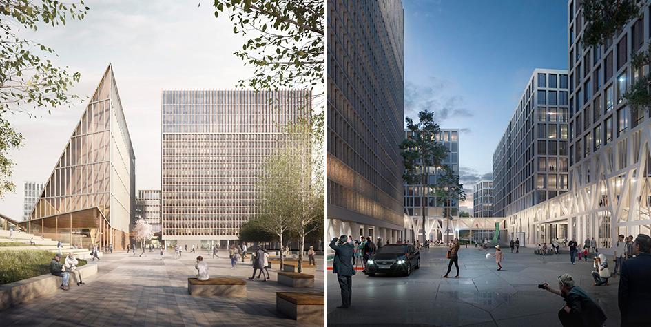 Проекты реконструкции правительственного квартала в Осло от G8+ и Team Urbis