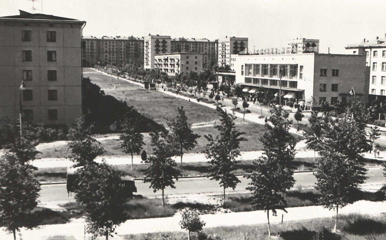 Вид жилого квартала в Черемушках. Автор Ю. Артамонов. 1969 год