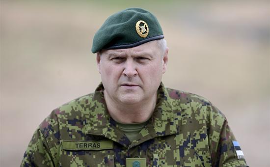 Командующий Силами обороны Эстонии генерал-лейтенант Рихо Террас