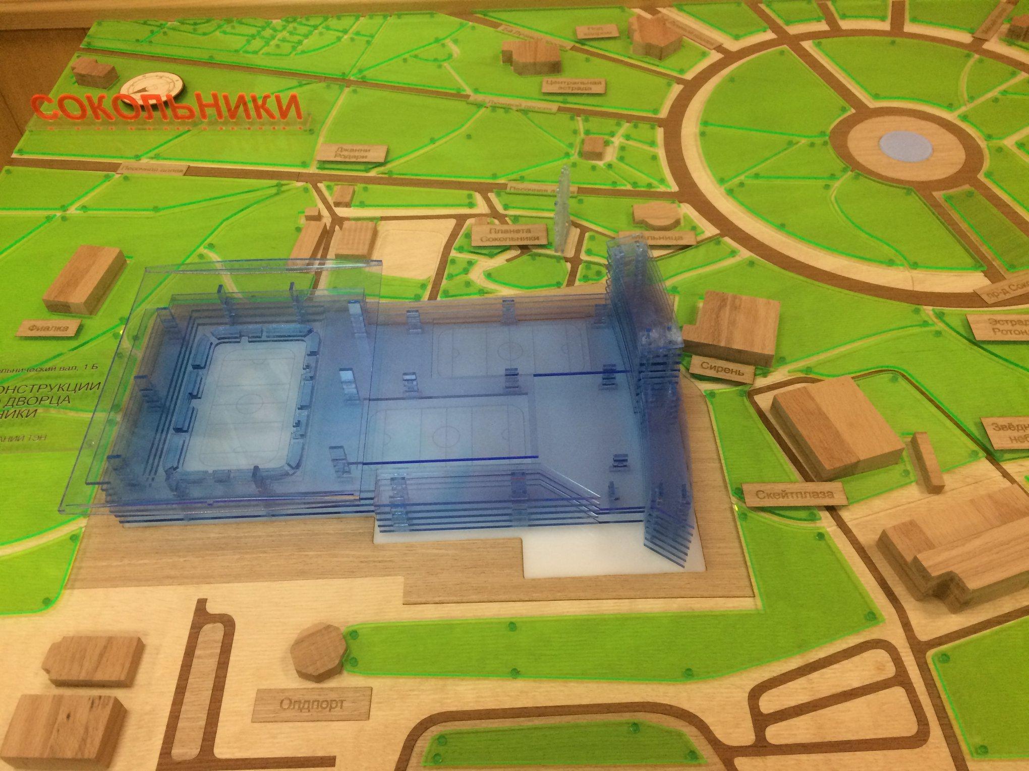 Проект нового хоккейного комплекса в «Сокольниках»