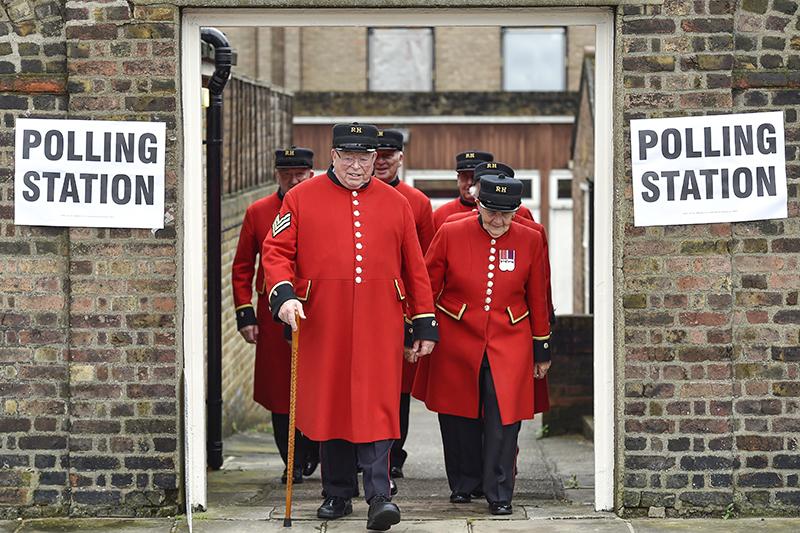 Избирательный участок влондонском районе Челси