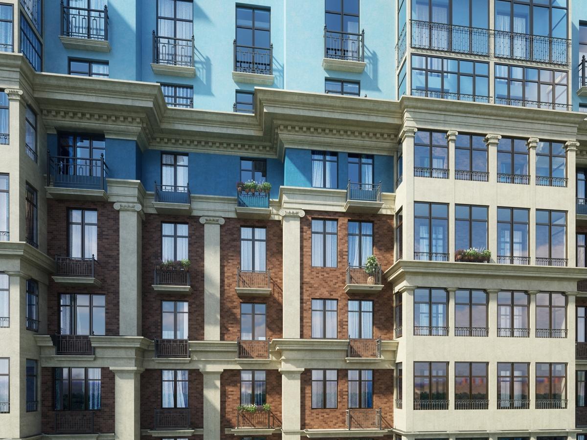Фасад одного издомов «Города-события Лайково»