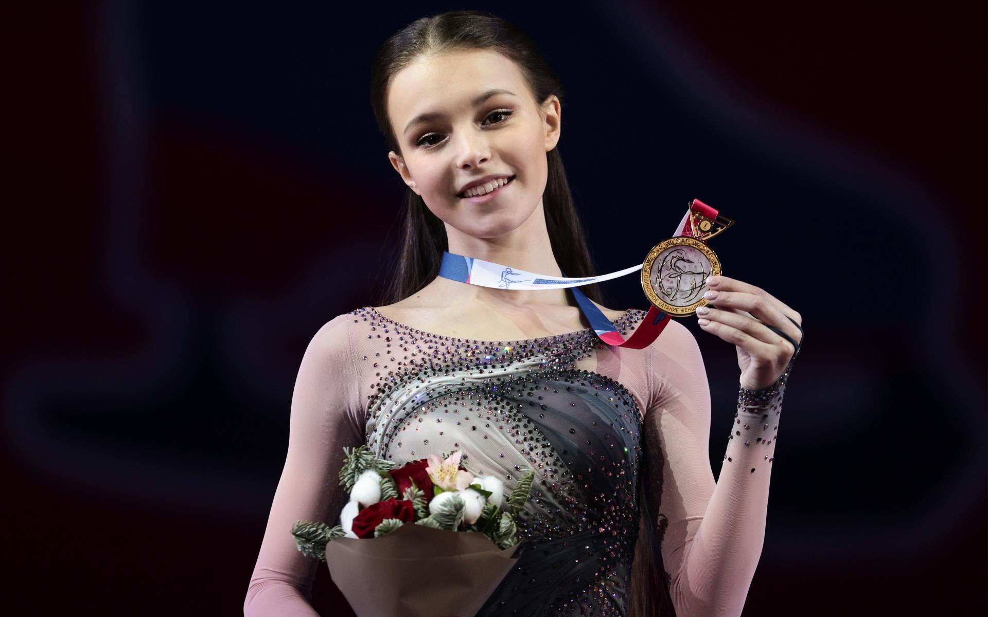 Трехкратная чемпионка России по фигурному катанию Анна Щербакова
