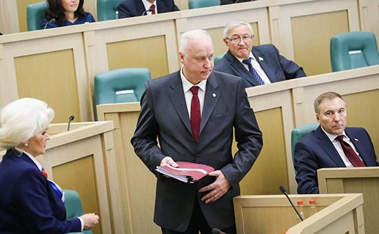 Председатель Следственного комитета РФ Александр Бастрыкин (в центре на переднем плане)