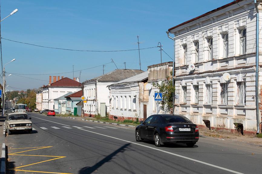Подмосковный город Серпухов, вид на 2-ю Московскую улицу