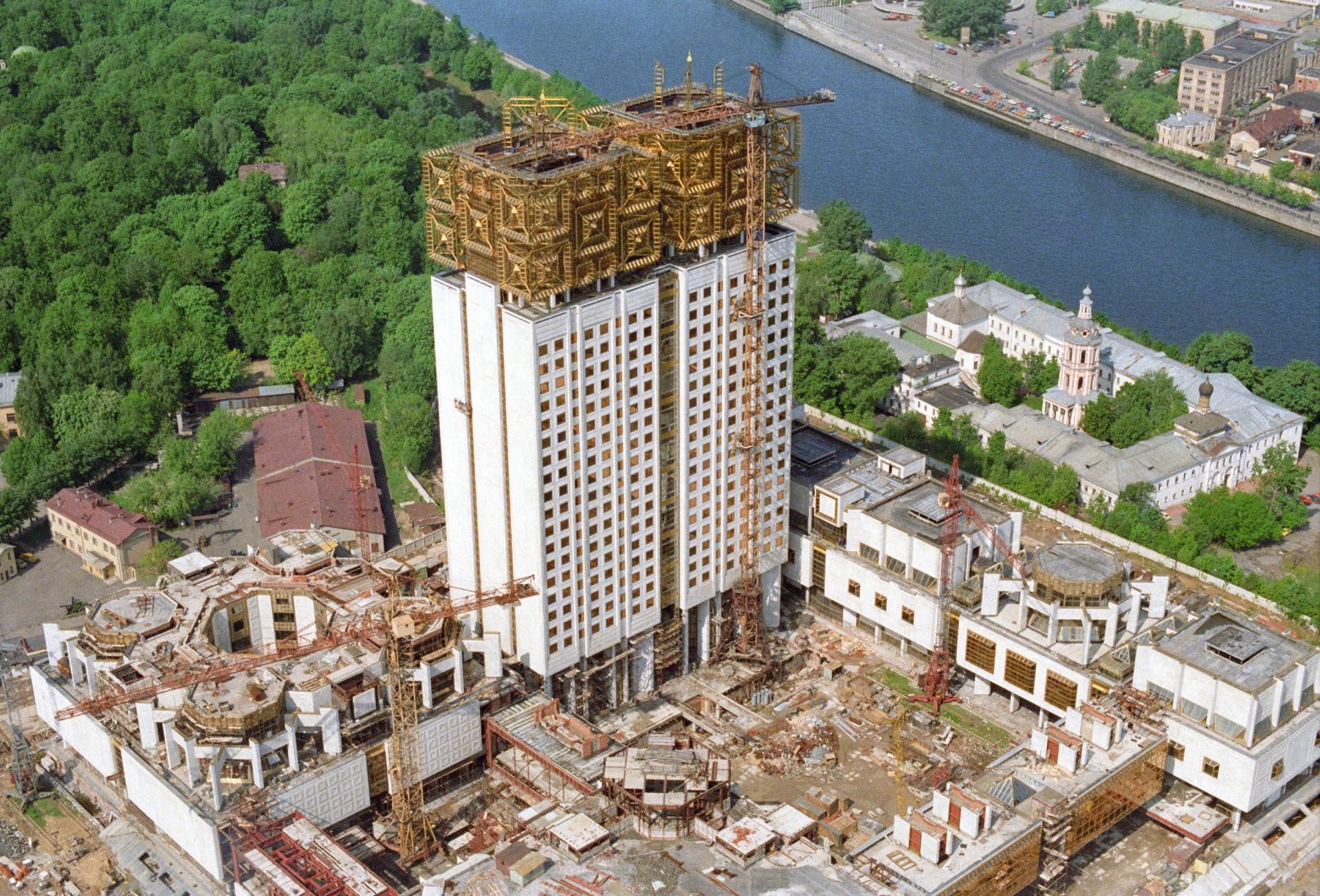 1987 год.Строительство здания Президиума АН СССР