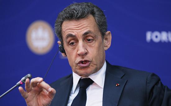 Экс-президент Франции Николя Саркози на Петербургском форуме