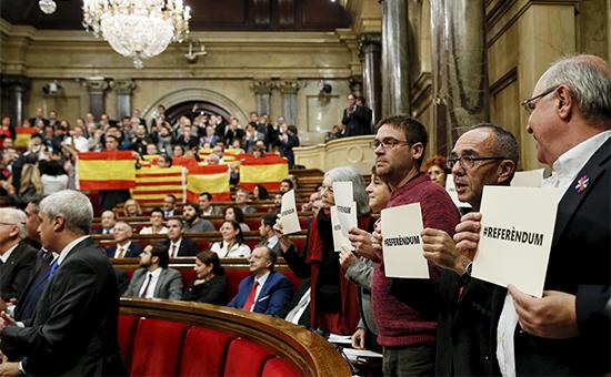 Голосование вкаталонском парламенте