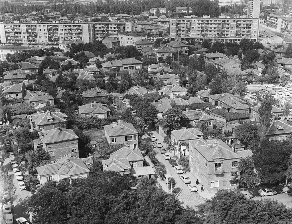 Пловдив, Народная Республика Болгария. Общий вид намозаику города