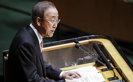 Генсек ООН высказал «серьезную озабоченность» по поводу боев в Дебальцево