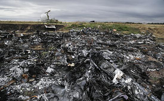 Место катастрофы малайзийского «Боинга» в Донбассе