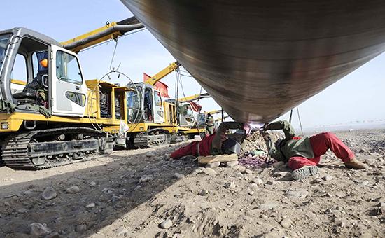 Строительство газопровода в Туркмении. Архивное фото