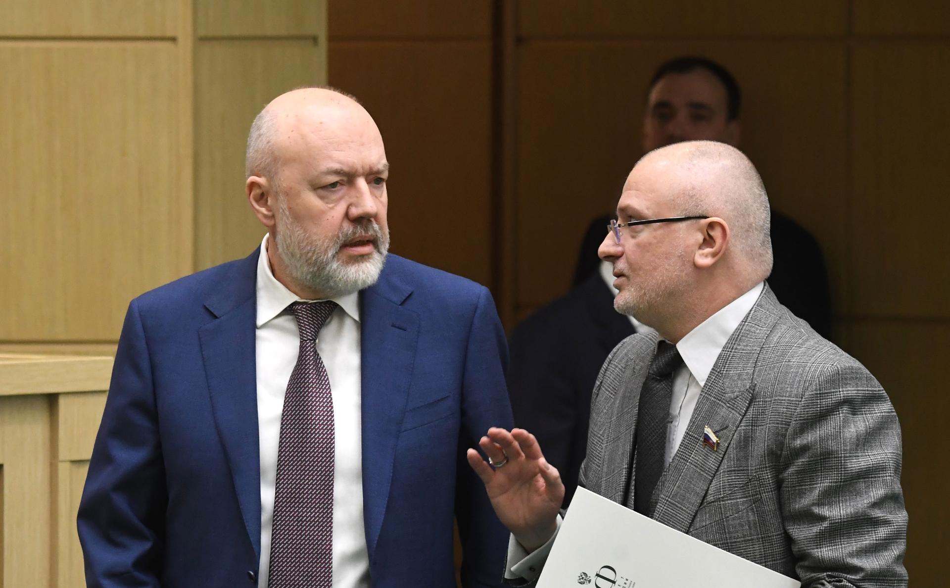 Павел Крашенинников (слева) и Андрей Клишас