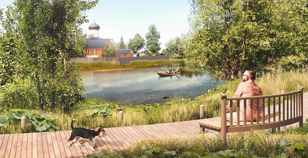 Проект благоустройства набережных реки Малашки в Старой Руссе