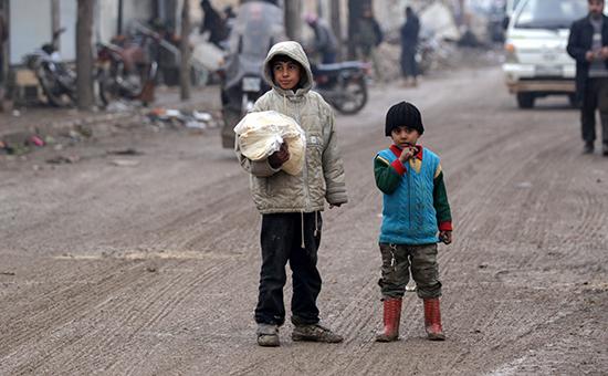 Дети наулицах Алеппо